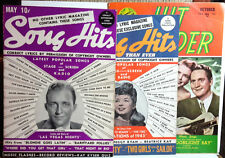 1940s Song Hits Magazine Lot of 3- Bing Crosby/Frances Langford (M5641-LH)