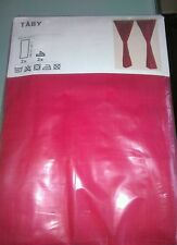 Ikea RED Taby Pair Of Lined Curtains 145 x 165cm With Tie Backs