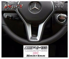 NEW 2 PCS Alloy ALUMINIUM AMG Steering Wheel Sticker Badge Logo Emblem S66 #15