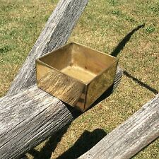 Vintage Square Brass Change Dish Heavy Solid Piece