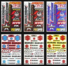 6x SUZUKI Vinyl Decal Car Motocross Bike Helmet Renthal Yoshimura Logo Sticker