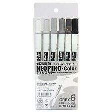 DELETER alcohol marker Neopiko color gray 6color Set Manga Anime Drawing Japan