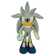 "Sega GE Official licensed Sonic The Hedgehog 12"" Plush toy figure Silver NWT"