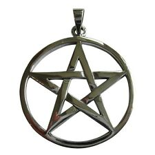 Sterling  Silver  (925)  Pentagram Star  ( 11 mm ) Pendant   !!     Brand New !!