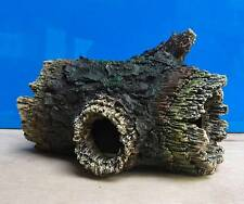 Aquarium Ornament Hollow Tree Log Tunnel Cave Fish Tank Decoration New
