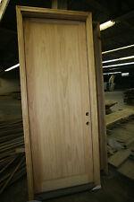 """Pre-Hung Exterior Pine Door 36""""x96"""", Single Panel V-Grooved, Nice Door, KA42"""