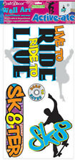 SKATERBOARDER wall stickers 4 big decals skateboard Born to Skate Live to Ride