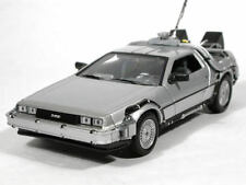 Welly Volver Al Futuro 1 Delorean Time Machine Escala 1/24 Modelo de fundición de coche