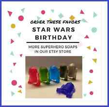 Star Wars, Party Favors, 25, R2D2 Soaps, Themed Birthday, Boys Surprise Party,
