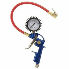 Tire Inflator Gauge Gun Air Pressure Pump Compressor Valve Hose Fitting Chuck