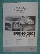 Bavaria Motor Boats UK Price List 2008 - 27S,30S,30HT,33S,33HT,37S,37HT,42S,42HT