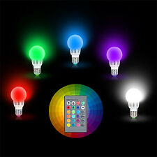 2x E27 3W RGB LED 16 Multi Color Magic Lamp Light Bulb + Wireless Remote Control