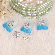 Crown 3D Nail Art Drills Sticker Alloy Rhinestone Accessories Jewelry Decor 5Pcs
