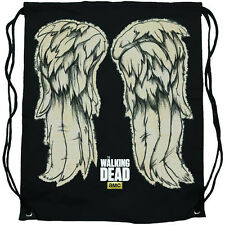 The Walking Dead Daryl Dixon Wings Cinch Drawstring Bag Backpack New Licensed
