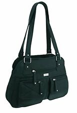 Womens Plain Multi Pockets Shoulder Messenger Handbag Ladies Purse Bag