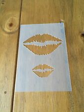 Kiss Lips Mylar Reusable Stencil Airbrush Painting Art Craft DIY Home Decor