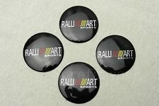 4Pcs Black RALLI ART Aluminum Alloy Car Wheel Center Hub Caps Stickers Emblems