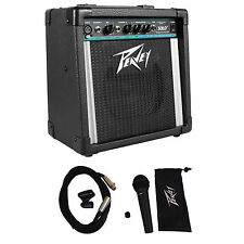 Peavey Solo Portable PA 2 -Channel Powered Sound System Battery or AC+Microphone