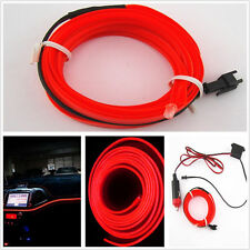 12V 2M Flexible Cold EL Wire Car Pickup Interior Ornament Atmosphere Light Red
