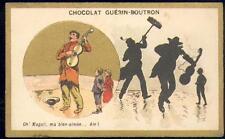 Chromo Guérin Boutron Champenois Ombre chinoise gypsy musicien musique gitan
