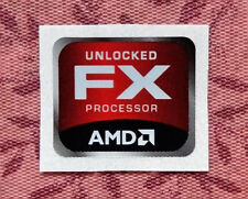 AMD Unlocked FX Sticker 18 x 21.5mm Case Badge Bulldozer Piledriver USA Seller