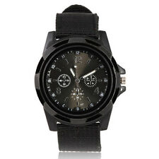COOL Black Sport Quartz Men Watch Vintage Fabric Band Design Luxury Dress Reloj