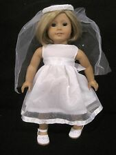 American girl doll dress for  first communion/Wedding or fancy dressup