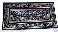 Size 4'x2' Marble Travertine Coffee table Marquetry Mosaic Inlay Art Home Decor