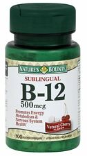 Nature's Bounty Vitamin B-12 500 mcg Microlozenges 100 ea