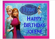 Disney Frozen Rice Paper Birthday Cake Topper! PINK