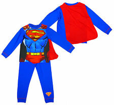 BNWT Boys Official SUPERMAN Muscle Body Novelty Dress Up Pyjamas Cape Sz 3-4 yrs