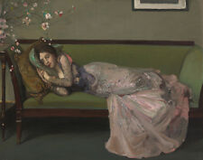 Lavery John Sir The Green Sofa Canvas 16 x 20    #3445