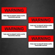 4 GPS Warning Sticker Anti Theft Security Alarm Home Car Vehicle Vinyl Decal