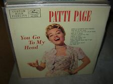 PATTI PAGE you go to my head & on stage ( jazz ) - 2 LP LOT -