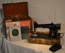 Impressive Condition 1938 Singer 201 Sewing Machine w/Case! Serviced Ships FAST