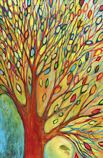 Tree Colors Printed Canvas Art 24 X 36