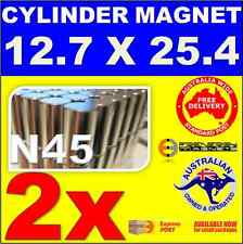 2X Cylinder ROD Neo Rare Earth Magnets 12.7X25.4 mm N45