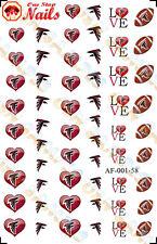 58pcs Atlanta Falcons Nail Art Decals Stickers Transfers. NFL AF001-58