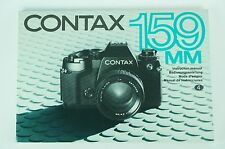 Contax 159MM 159 MM Camera 119 Page Instruction User Manual
