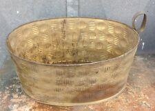 Vintage: PORTAVASO FIORIERA ovale in ottone