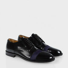 "NIB Paul Smith $575 Black Leather ""Newlyn"" Derby Shoes.  US 12. Made in Italy."