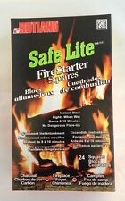 RUTLAND Safe Lite Fire Starter Squares 24 ct. FREE USA SHIPPING! #50C