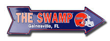FLORIDA GATORS THE SWAMP EMBOSSED METAL ARROW SIGN  MAN CAVE SPORTSROOM