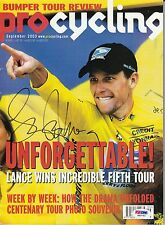 LANCE ARMSTRONG CYCLING MAGAZINE AUTOGRAPH AUTO PSA DNA CERTIFIED AUTHENTIC