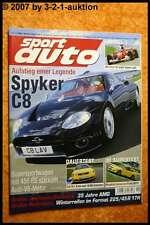 Sport Auto 11/02 Spyker C8 Audi RS4 AMG Mitsubishi EVO