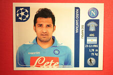 PANINI CHAMPIONS LEAGUE 2011/12 N 68 SANTANA NAPOLI WITH BLACK BACK MINT!!