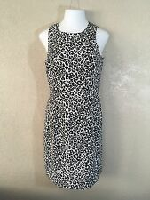 Maggy London Womens Dress Size 12 100% Silk Lined Animal Print Sleeveless
