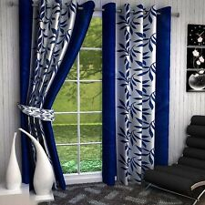 SA Premium Blue Kolaveri 7Ft Door Curtains-Set of 2