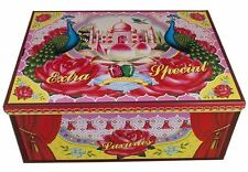 Cotton Candy Extra Special Peacock Retro Kitsch Cigar Craft & Storage Tin Box