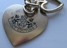 Juicy Couture Heart Shape Key Chain Ring Finder Fab Large Gold Tone